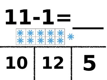 Subtract 1 Clip Cards