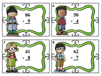 Subtract 1-Digit Numbers from 2-Digit Numbers