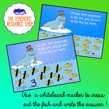 Subtract 10 FlashCards (11-20)