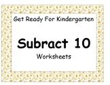 Subtract 10 Worksheet Pack