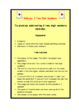 Subtract 2 Two Digit Numbers Card Game