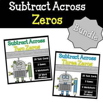 Subtracting Across Zeros Bundled