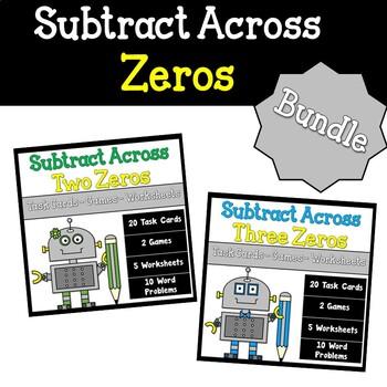 Subtracting Across Zeros Worksheets Teaching Resources | Teachers ...