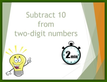 Subtract 10 from Two-digit Numbers