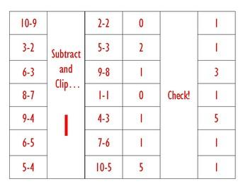 Subtract, Clip, Check