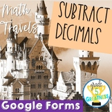 Subtract Decimals Google Forms Distance Learning Math and Travel