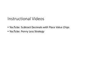 Subtract Decimals PowerPoint