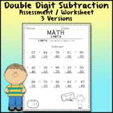Subtract Double Digits Assessment 1.NBT.6