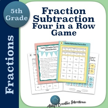 Subtracting Fractions Game Differentiated Partner Game
