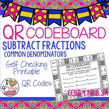 Subtract Fractions CCSS 4.NF.B.3a
