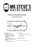 Subtract Fractions Game Snakes Ladders Subtraction Year 6