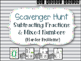 Subtract Fractions and Mixed Numbers (Unlike Denominators-
