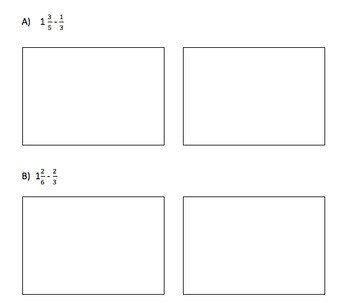Subtract Fractions from Mixed Numbers with Modeling Practice