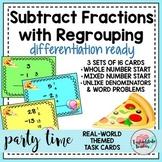Subtracting Fractions Task Cards 5NFA1 5NFA2