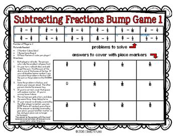 Fractions: Subtract Fractions w/ Uncommon Denominators {2 Differentiated Games}