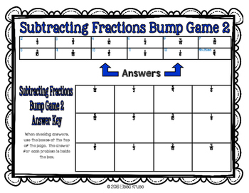 Fractions: Subtract Fractions w/ Uncommon Denominators {2 Differentiated Games}
