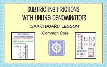 Subtract Fractions with Unlike Denominators