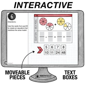Subtract Fractions with Unlike Denominators  - 5th Grade Digital Math Center