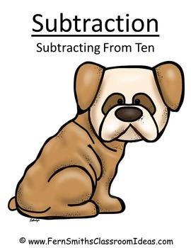 Subtraction Center A Quick and Easy to Prep Center and Printable Subtract Ten