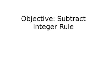 Subtract Integer Rule