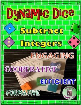 Subtract Integers Dynamic Dice