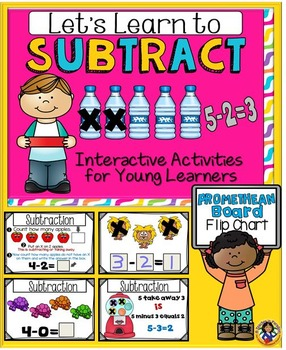 Subtract: Let's Learn to Subtract – Promethean Board Flipchart & Printables