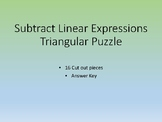 Subtract Linear Expression Triangular Puzzle