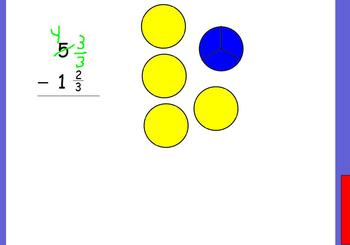 Subtract Mixed Numbers-Regrouping Whole Numbers