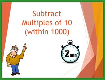 Subtract Multiples of 10 (within 1000)