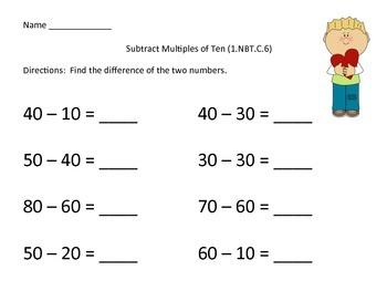 Subtract Multiples of Ten