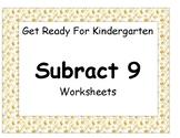 Subtract Nine Worksheet Pack