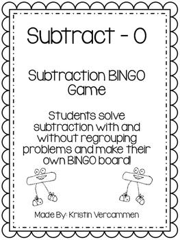 Subtract - O!  Subtraction BINGO