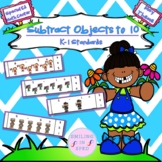 Subtract Objects to 10 (May Theme)