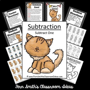 Subtraction Center Game A Quick and Easy to Prep Center Subtract One Bundle