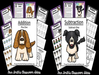 Addition and Subtraction Easy to Prep Math Centers Plus One and Subtract One