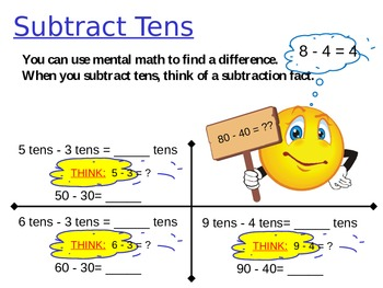 Subtract Tens