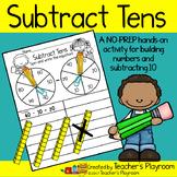 Subtract Tens Math Center