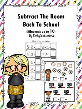 Subtract The Room Back To School (Minuends up to 10)