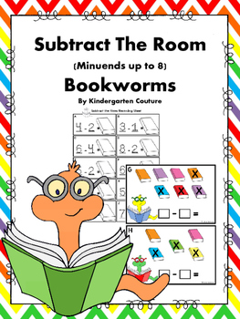 Subtract The Room -Bookworms (Minuends To 8)