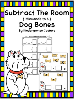 Subtract The Room -Dog Bones (minuends to 6)