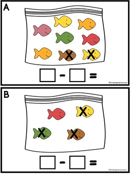 Subtract The Room Fish Crackers (Minuends to 8)