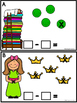 Subtract The Room -Princess And The Pea (Minuends up to 8)