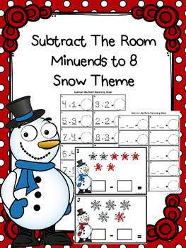 Subtract The Room - Snow  (Minuends to 8)