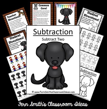 Subtraction Center Game A Quick and Easy to Prep Center Subtract Two Game