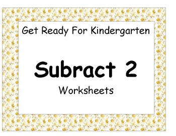 Subtract Two Worksheet Pack