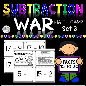 Subtraction War Facts 15 to 20
