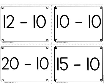 Subtraction Facts to 20 Game