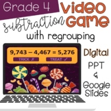 Subtract Whole Numbers with Regrouping Activity -- Distanc