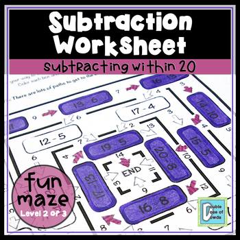 Subtract Within 20 Maze