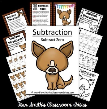 Subtraction Center Game A Quick and Easy to Prep Center Subtract Zero Bundle